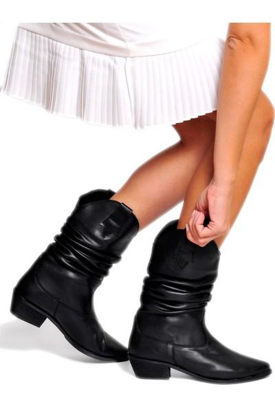 Daymotto Dallas Western Çizme Siyah