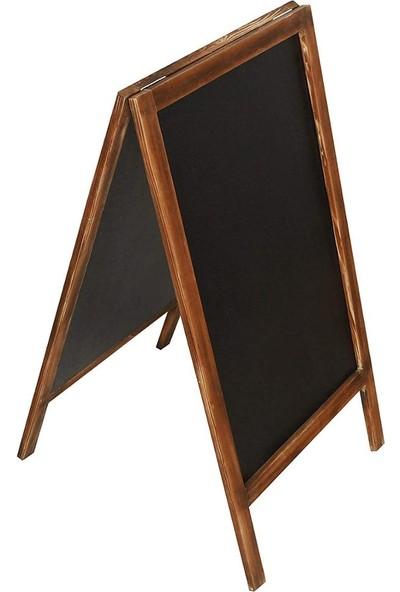 Armode Ayaklı Çift Taraflı Yazı - Menü Kara Tahta - 115 x 60 cm