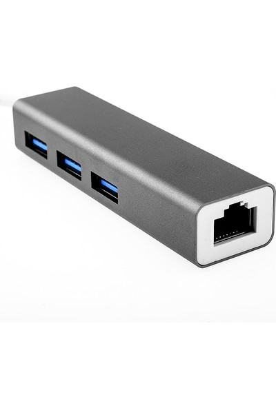 Orite Multifunction Type-C To USB + Ethernet RJ45 Lan Çevirici Adaptör