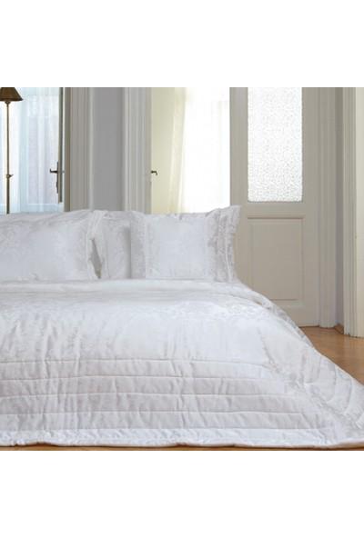 Karaca Home Sedef Krem Jakarlı Yatak Örtüsü 270 x 260 cm