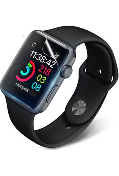 Lopard Apple Watch 44 mm Narr TPU Full Body Ekran Koruyucu Şeffaf