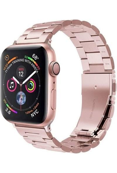 Lopard Apple Watch 40 mm KRD-04 Paslanmaz Metal Çelik Kordon Kayış Rose Gold