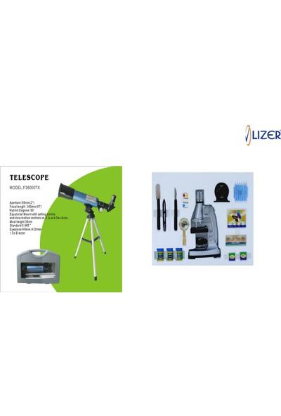 Lizer Teleskop-Mikroskop Seti-F36050TX Teleskop Seti ve MPZ C1200 Mikroskop Seti