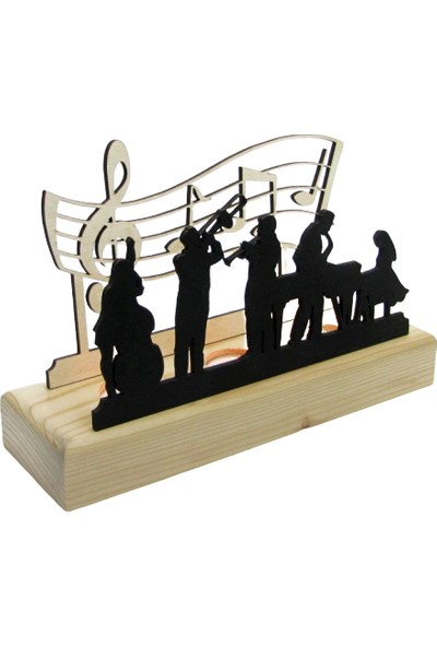 Didideko Ahşap Tealight Mumluk Jazz