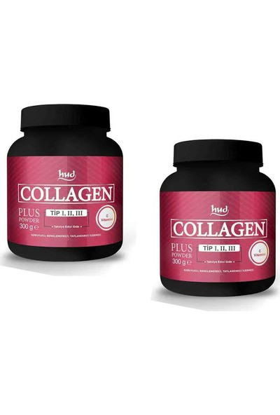 Hud Collagen Plus Toz Kolajen Powder- Hidrolize Kollajen Tip Kollajen Toz İçecek 2 ADET