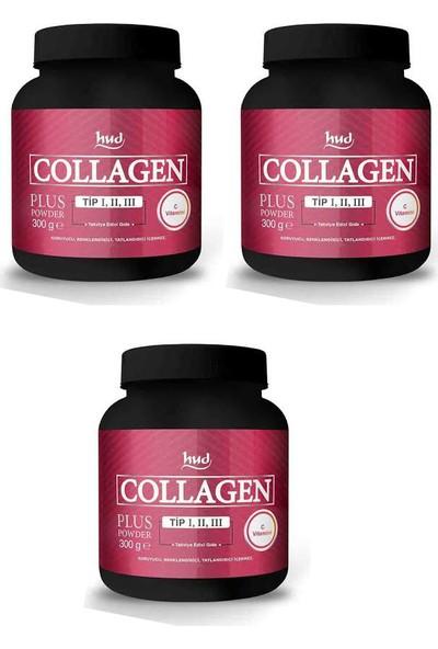 Hud Collagen Plus Toz Kolajen Powder- Hidrolize Kollajen Tip Kollajen Toz İçecek 3 ADET