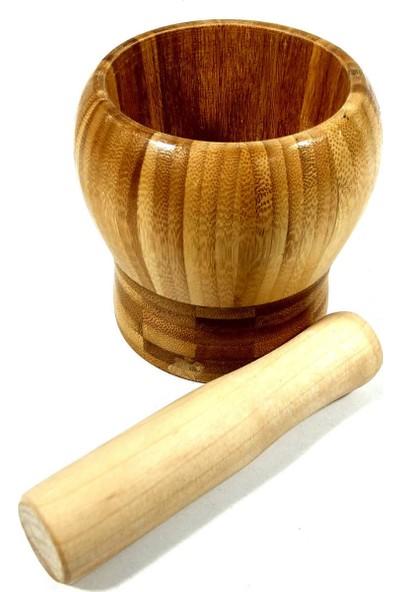 İdea Büyük Boy Bambu Sarımsak Dövücü Havan 1 Adet