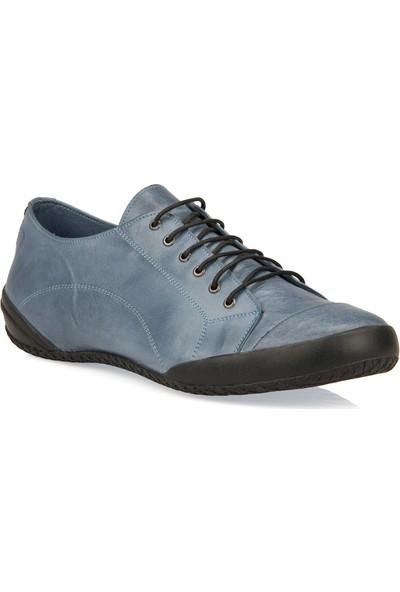 Uniquer Erkek Deri Ayakkabı 91499U 301 Mavi