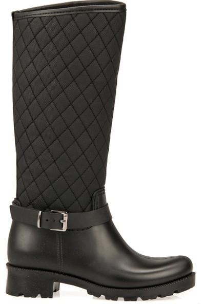 Uniquer Kadın Yağmur Çizmesi 93302 1005 Siyah