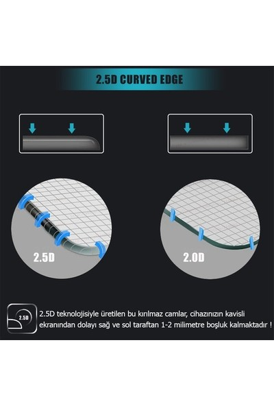 Ehr. LG Q6 Ekran Koruyucu Cam - Şeffaf