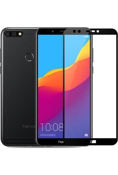 Ehr. Huawei Y7 2018 5D Tam Kaplayan Cam - Siyah