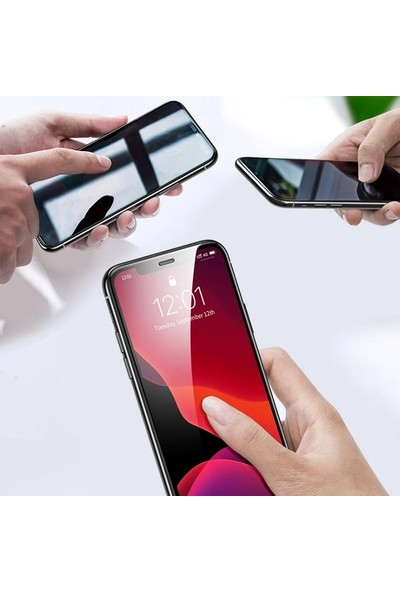 Ehr. Huawei Honor 8A 5D Gizlilik Filtreli Hayalet Cam - Siyah