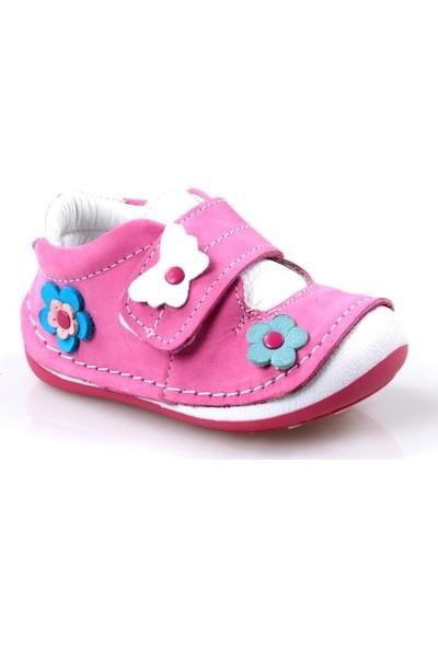 Rüzgar Bebe Kız Çocuk Ortapedik Deri İlk Adım Ayakkabı