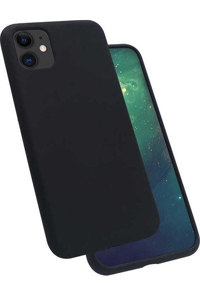 Zore iPhone 11 Silk Silikon Kılıf Siyah