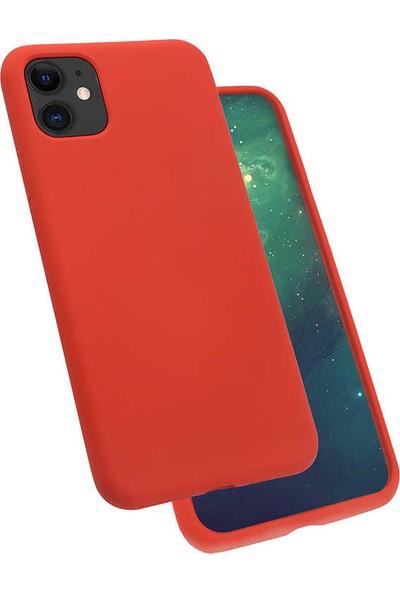 Zore iPhone 11 Silk Silikon Kılıf Kırmızı