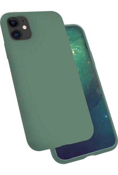Zore iPhone 11 Silk Silikon Kılıf Koyu Yeşil