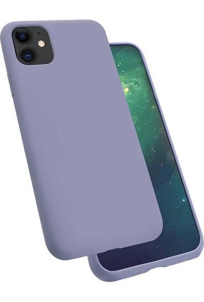 Zore iPhone 11 Silk Silikon Kılıf Mor
