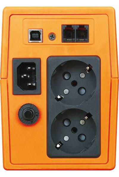 Makelsan Line-Intractive 650VA 5-12 Dk 1x7AH Akülü UPS Güç Kaynağı MU00650L11MP005