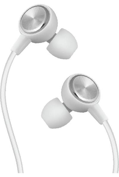 Linktech H30 Mikrofonlu Kulak Içi Stereo Kulaklık - Beyaz