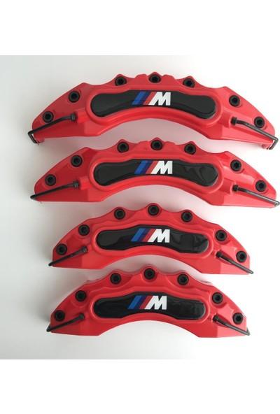 Newdizayn Kaliper Kapağı 4'lü Set Takım M Technic Kırmızı Renk