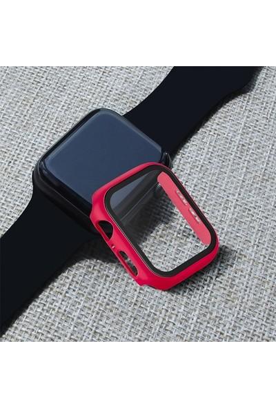 Ally Apple Watch 4 44 mm 360 Derece Koruma Kılıf + Ekran Koruyucu AL-31645 - Kırmızı