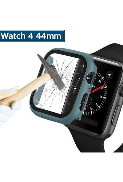 Ally Apple Watch 4 44 mm 360 Derece Koruma Kılıf + Ekran Koruyucu AL-31645 - Yeşil