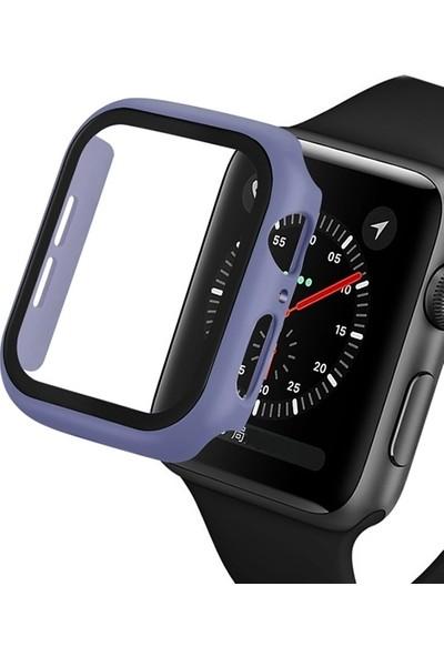 Ally Apple Watch 4 44 mm 360 Derece Koruma Kılıf + Ekran Koruyucu AL-31645 - Açık Mavi