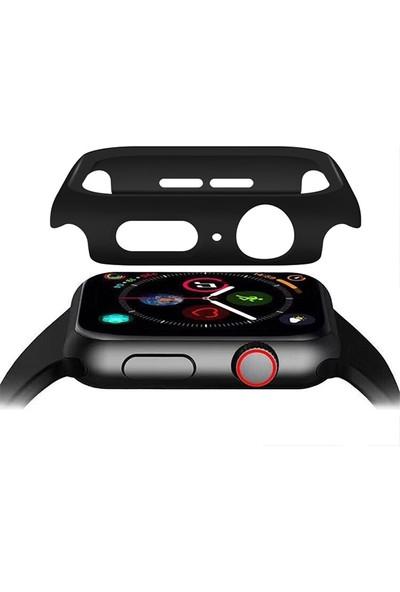 Ally Apple Watch 4 40 mm 360 Derece Koruma Kılıf + Ekran Koruyucu AL-31648 - Siyah