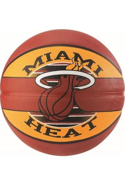 No Name Basket Topu Nba Team Heat Sz7 Rbr Bb 83-507Z Spalding Basketbol Topu