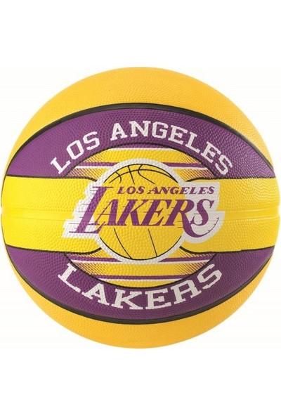 No Name Basket Topu Nba Team Lakers Sz7 Rbr 83-510Z Spalding Basketbol Topu