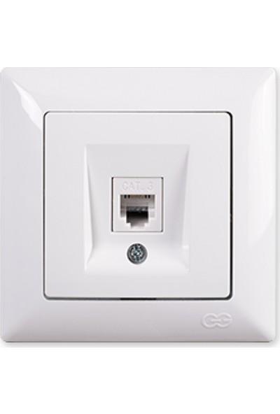 Günsan Nümeris Telefon Prizi (Cat3), Beyaz 01281100-100120