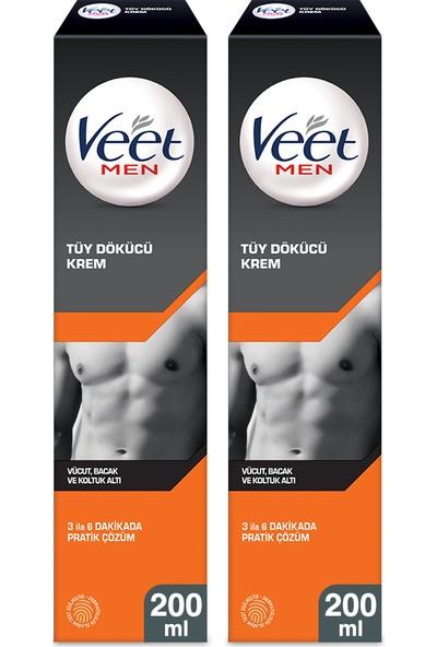 Veet Men Tüy Dökücü Krem 200 ml Erkeklere Özel x 2 Adet