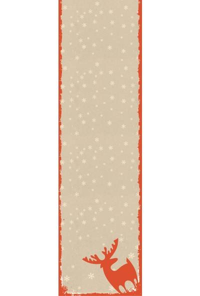Sare Home Yılbaşı Özel Fon Perde 140 x 260 cm Dijital Baskılı