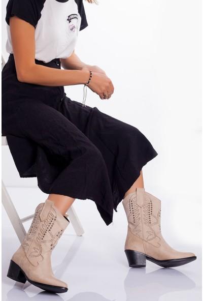 Ayakkabı Frekansı Balvina Bot Ten Süet