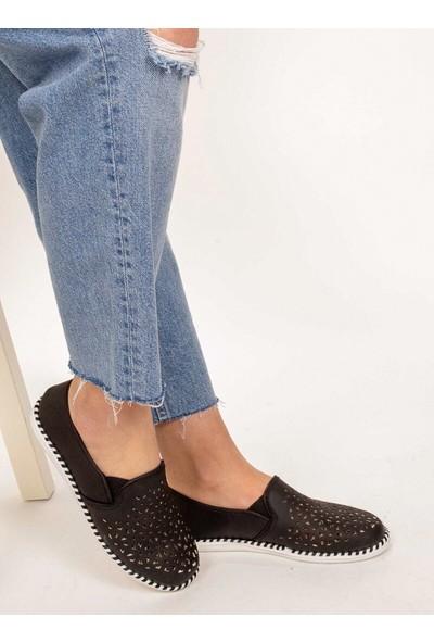 Aker Ayakkabı Delikli Espadril