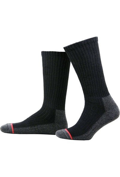 Hightex Trekking Outdoor Çorap Trekking Socks Siyah