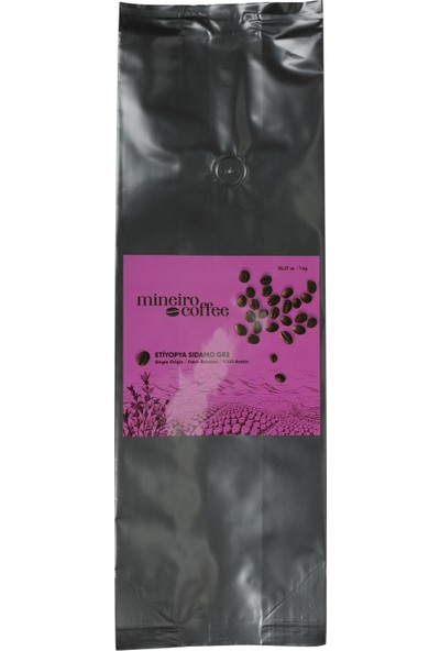 Mineiro Coffee Single Origin Etiyopya Sidamo Kahve 1 kg