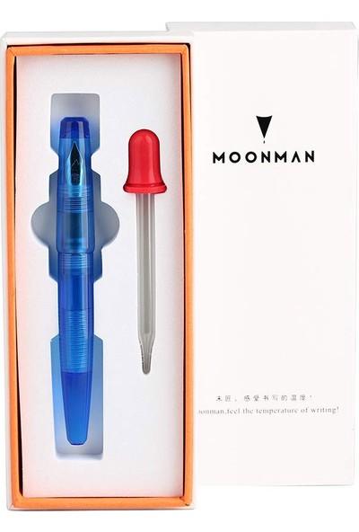 Moonman C2 Dolma Kalem Altın Uç Şeffaf Mavi MC2-221F