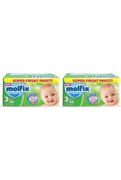 Molfix 3 Numara 94*2=188 Bebek Bezi