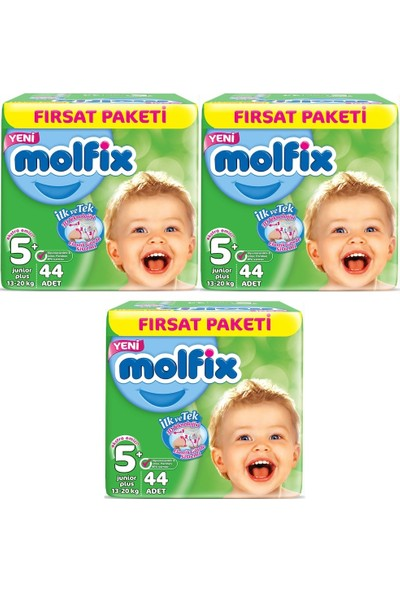 Molfix 5+ Numara 44*3=132 Bebek Bezi
