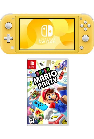 Nintendo Switch Lite Konsol Sarı + Super Mario Party Nintendo Switch Oyunu