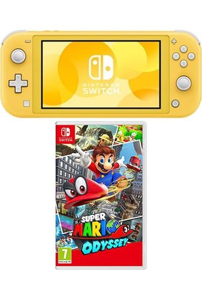 Nintendo Switch Lite Konsol Sarı + Nintendo Super Mario Odyssey Switch Oyun