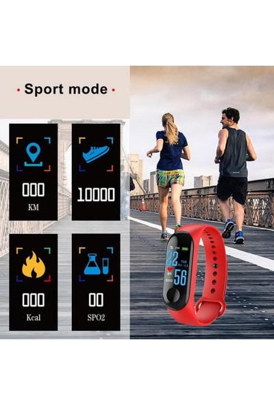 Livadi M3 Bluetooth Akıllı Bileklik Saat - Kırmızı