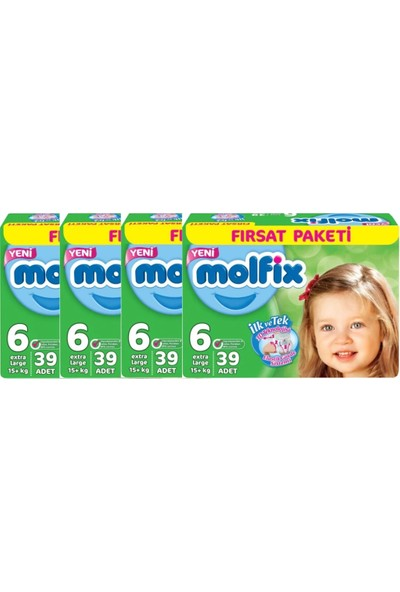 Molfix 6 Numara 39*4=156 Bebek Bezi