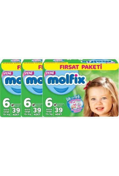Molfix 6 Numara 39*3=117 Bebek Bezi