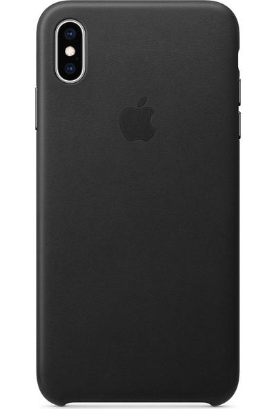 Apple iPhone XS Max Deri Kılıf Siyah - MRWT2ZM/A