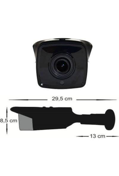 QROMAX PRO 2004 M4 4' lü 5 Megapiksel SONY LENS 1080P Aptina Sensör Metal Kasa Güvenlik Kamerası Seti