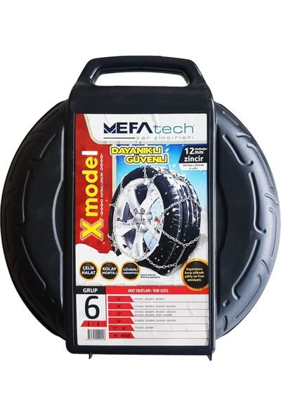 MefaTech 12mm X Tipi Oto Kar Zinciri No: 6