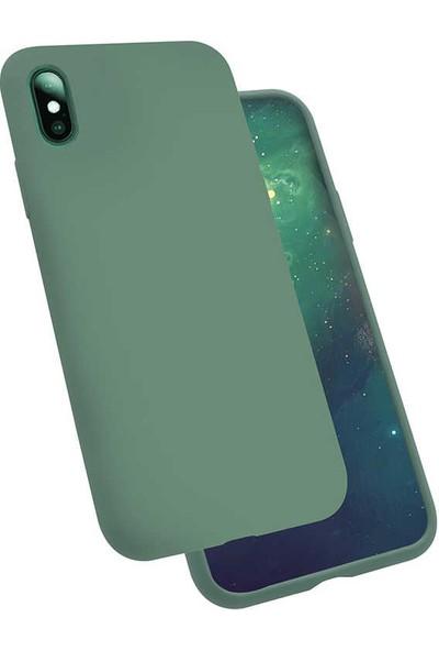 Zore iPhone X Silikon Kılıf - Yeşil