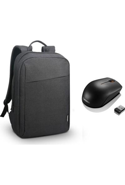 "Lenovo GX40Q17225 15.6"" B210 Notebook Sırt Çantası + Lenovo 300 GX30K79401 Kablosuz Mouse"